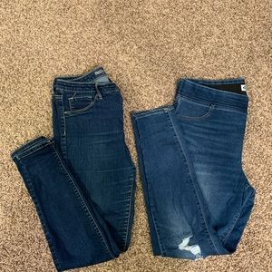 Two pairs of women's size 14 jeans